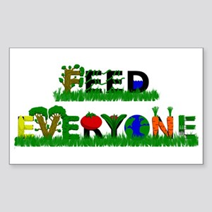 Feed Everyone Sticker (Rectangle)