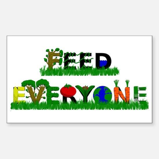 Feed Everyone Sticker (Rectangle)