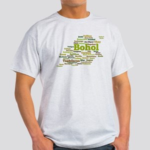 Bohol Geographic Word Cloud Light T-Shirt
