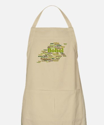 Bohol Geographic Word Cloud Apron