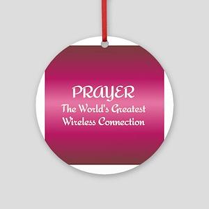 Prayer - World's Greatest Wir Ornament (Round)