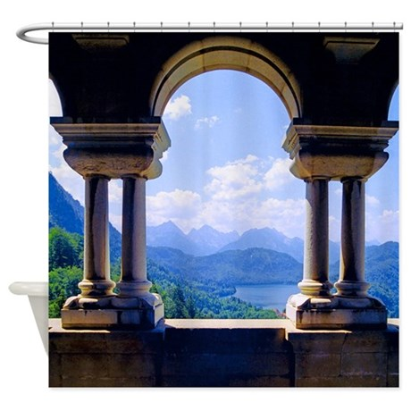 King's View Neuschwanstein Bavaria Shower Curtain