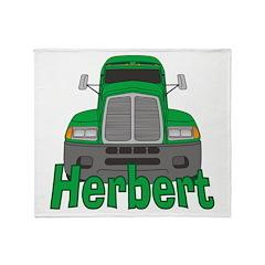 Trucker Herbert Throw Blanket