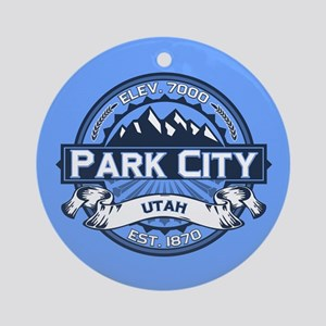 Park City Blue Ornament (Round)