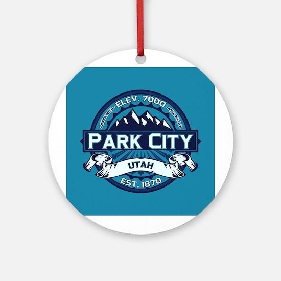 Park City Ice Ornament (Round)
