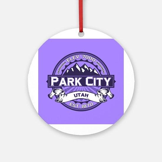 Park City Violet Ornament (Round)