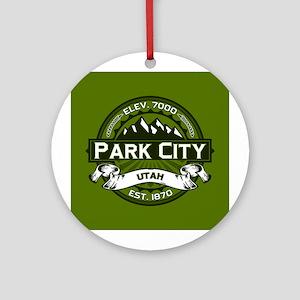 Park City Olive Ornament (Round)