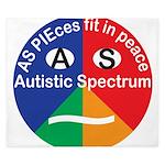 Autism symbol King Duvet