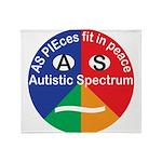 Autism symbol Throw Blanket