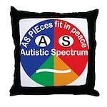 Autism symbol Throw Pillow