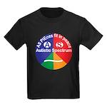 Autism symbol Kids Dark T-Shirt