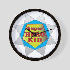 Super Hero Kid Wall Clock
