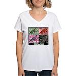 Romneleon Women's V-Neck T-Shirt