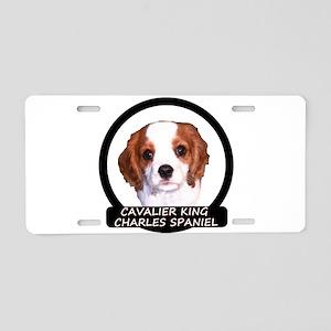 Cavalier Puppy Aluminum License Plate