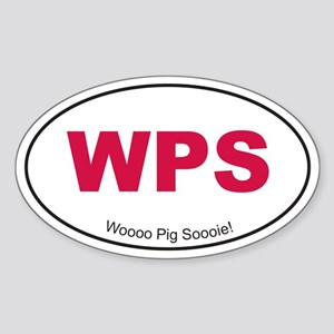 Red WPS Sticker (Oval)