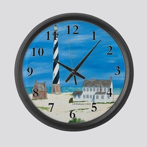 Ole Times at Cape Hatteras Large Wall Clock