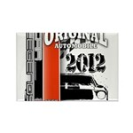 Original Muscle Car Red Rectangle Magnet