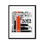 Original Muscle Car Red Framed Panel Print
