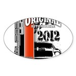 Original Muscle Car Red Sticker (Oval)