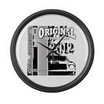Original Muscle Car Gray Large Wall Clock