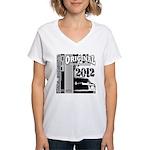 Original Muscle Car Gray Women's V-Neck T-Shirt