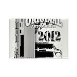 Original Muscle Car Gray Rectangle Magnet (100 pac