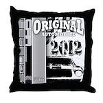 Original Muscle Car Gray Throw Pillow