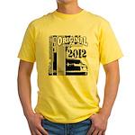 Original Muscle Car Gray Yellow T-Shirt