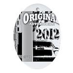Original Muscle Car Gray Ornament (Oval)