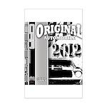 Original Muscle Car Gray Mini Poster Print