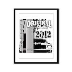 Original Muscle Car Gray Framed Panel Print