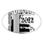 Original Muscle Car Gray Sticker (Oval)