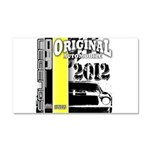 Original Muscle Car Yellow Car Magnet 20 x 12