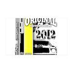 Original Muscle Car Yellow 38.5 x 24.5 Wall Peel