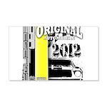Original Muscle Car Yellow 22x14 Wall Peel