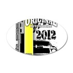 Original Muscle Car Yellow 38.5 x 24.5 Oval Wall P