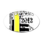Original Muscle Car Yellow 22x14 Oval Wall Peel
