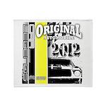 Original Muscle Car Yellow Throw Blanket