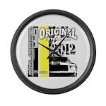 Original Muscle Car Yellow Large Wall Clock