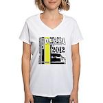 Original Muscle Car Yellow Women's V-Neck T-Shirt
