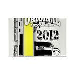 Original Muscle Car Yellow Rectangle Magnet