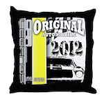 Original Muscle Car Yellow Throw Pillow