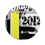 Original Muscle Car Yellow Ornament (Round)