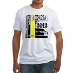 Original Muscle Car Yellow Fitted T-Shirt