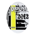 Original Muscle Car Yellow Ornament (Oval)