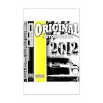 Original Muscle Car Yellow Mini Poster Print
