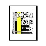 Original Muscle Car Yellow Framed Panel Print