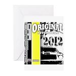 Original Muscle Car Yellow Greeting Cards (Pk of 1