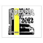 Original Muscle Car Yellow Small Poster