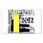 Original Muscle Car Yellow Sticker (Rectangle)